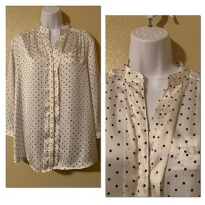 The Limited size large polka dot blouse
